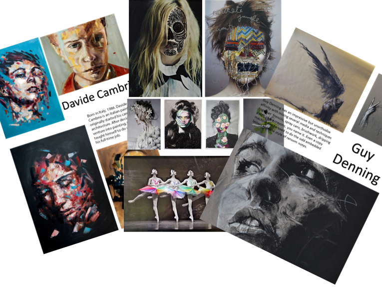 Set 3 20 Modern and Contemporary Artists with Images and small bio as inspiration for GCSE