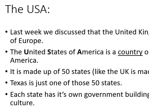 Compare physical features of UK to Texas