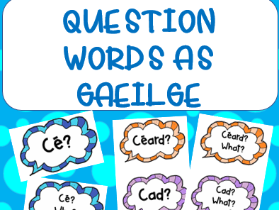 Gaeilge - Question Cards