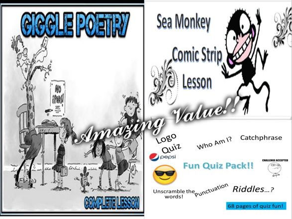 Giggle + Sea Monkey + Fun Quiz Pack