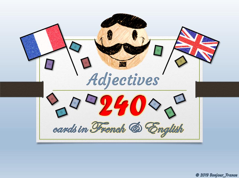 [(KS2)/KS3/KS4] French Flash Cards - Adjectives to develop vocabulary