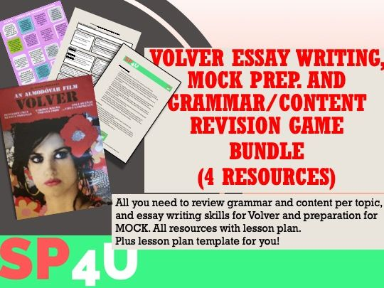 Alevel Spanish revision & Volver essentials