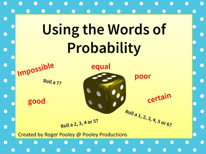 Using the Words of Probability
