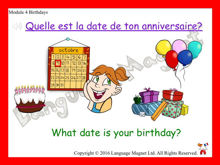 French Birthdays