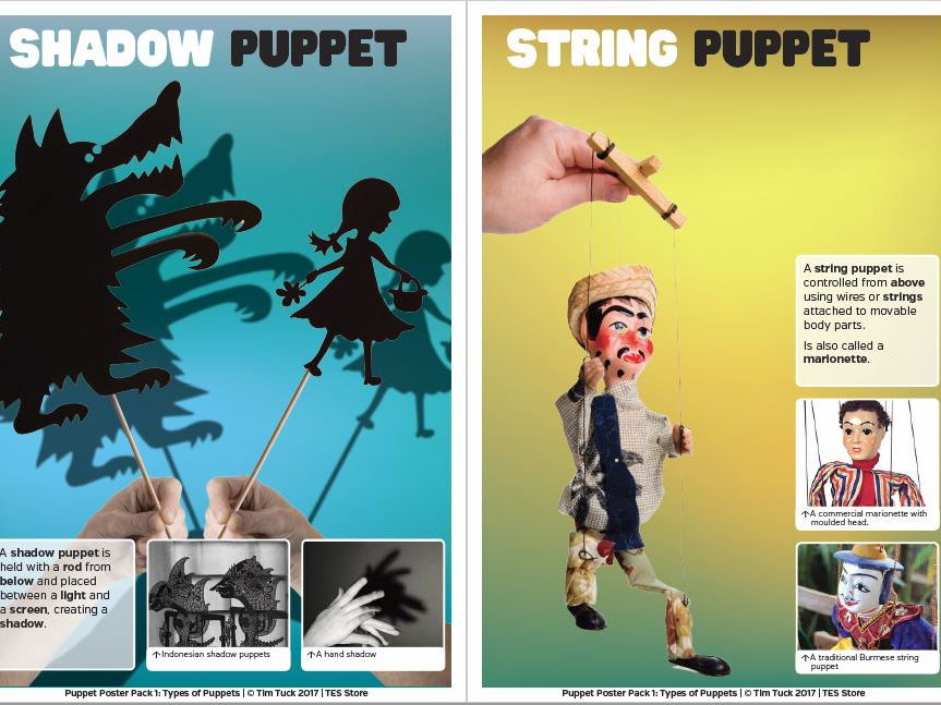 Puppet Poster Pack 1 - Types of Puppets