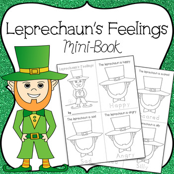 Feelings Mini-Book ~ Draw The Leprechaun's Face & Trace ~ Happy, Sad, Angry, Etc