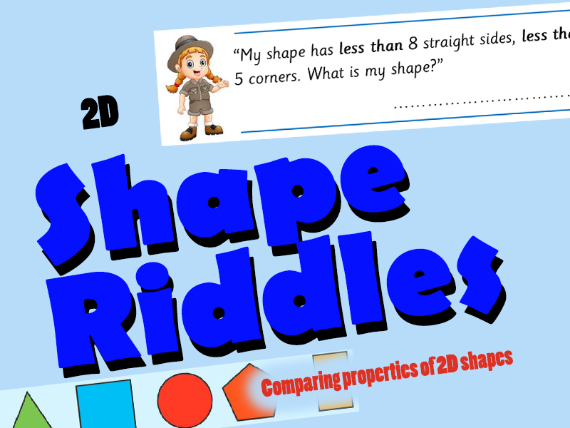 2D Shape Riddles - Comparing Properties