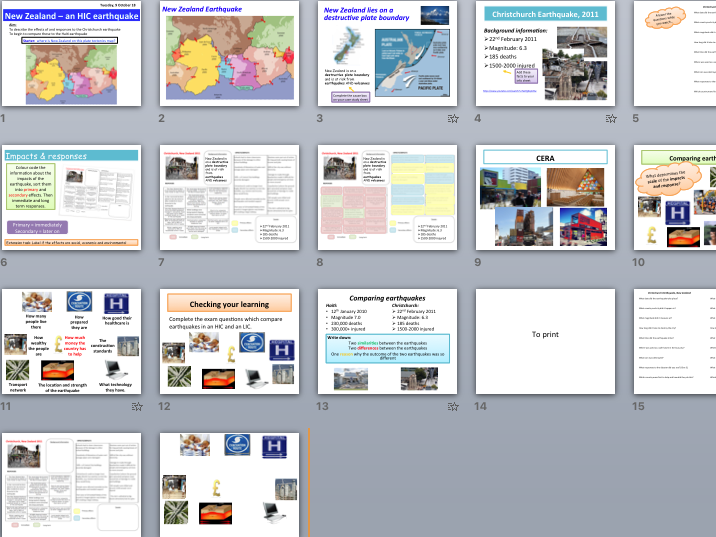 Christchurch earthquake 2011 - HIC case study (AQA The Challenge of Natural Hazards)