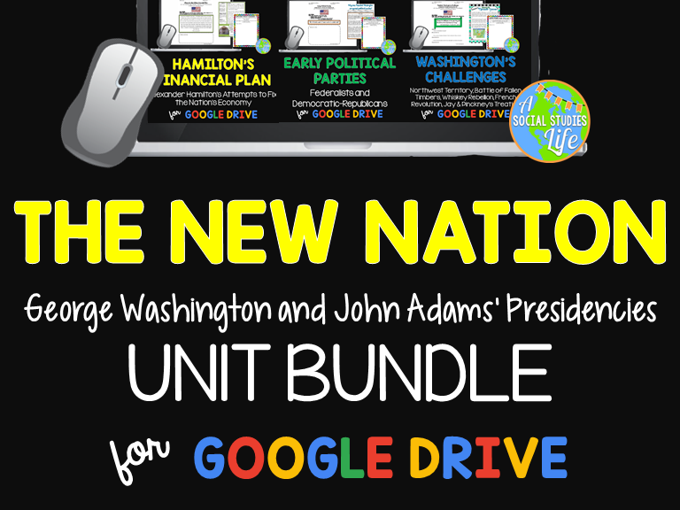 George Washington and John Adams UNIT BUNDLE