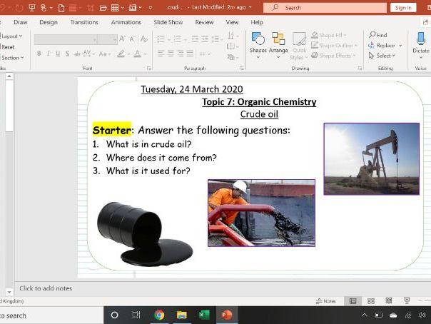 AQA Combined Science: 5.7 Organic Chemistry- Crude oil