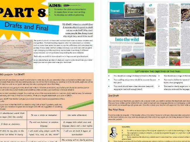 KS3 Non Fiction Articles and Analysis SOW