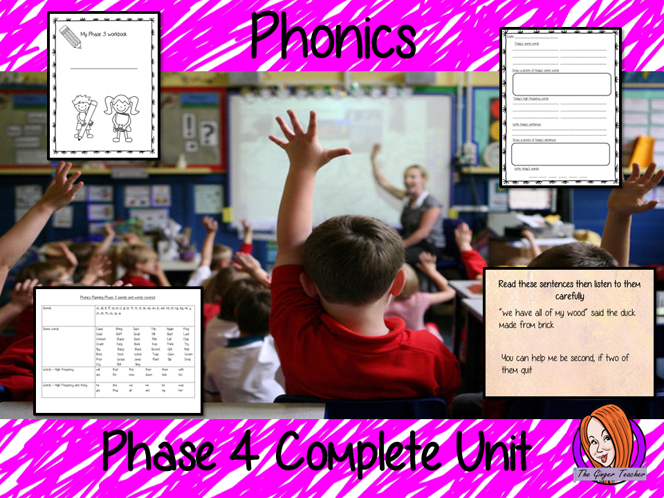 Phonics Phase 4 Complete Unit of Lessons