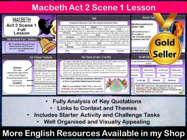 Macbeth Act 2 Scene 1 Lesson