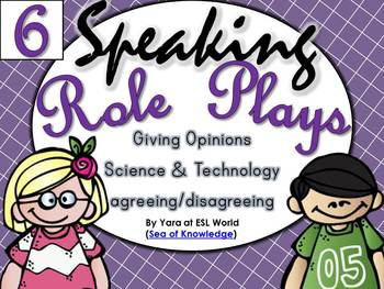 Speaking Role Play Cards ESL Pack 6 {Giving Opinions / Technology}