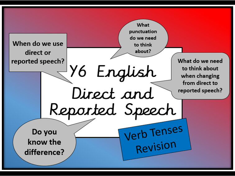Direct and Reported Speech & Verb Tenses