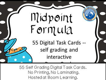 Midpoint Formula Boom Cards--Digital Task Cards