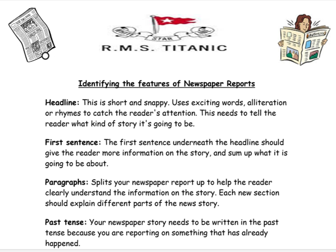 Features of Newspapers [Sorting Activity]