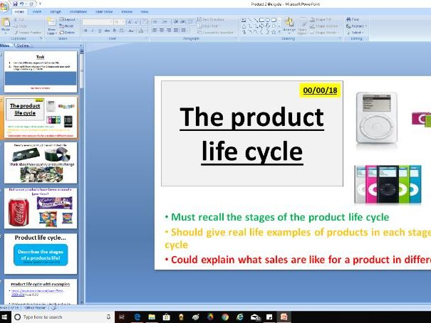AQA GCSE Business (9-1) 3.5.4 The elements of the marketing mix - product life cycle