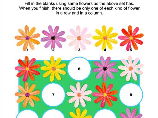 Picture Sudoku Puzzle with Gerbera Daisies