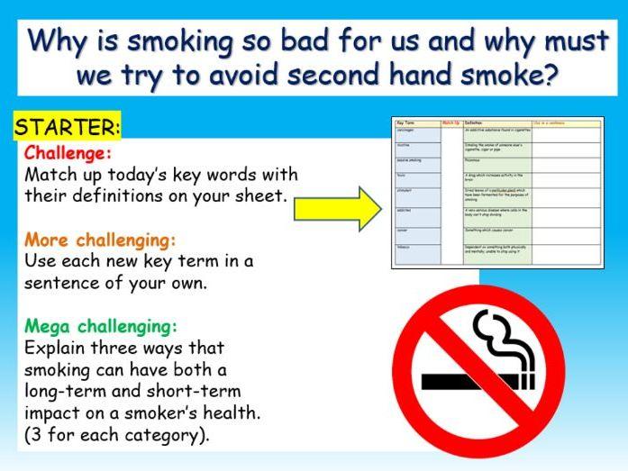Smoking PSHE
