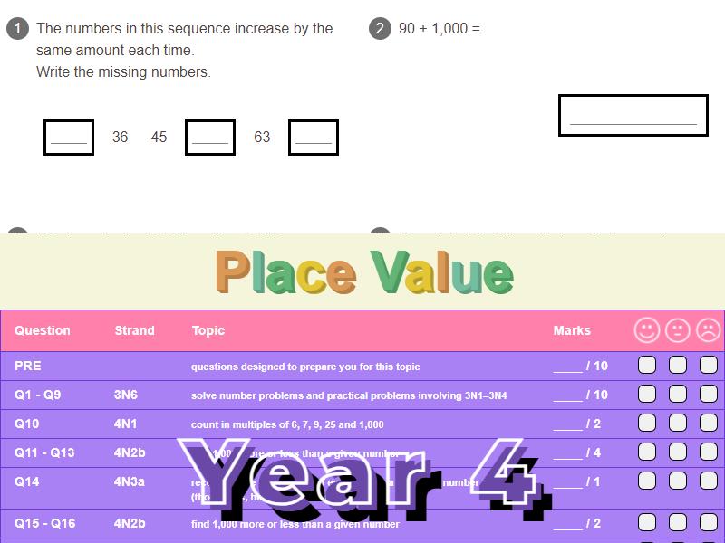 Place Value Worksheet + Answers (KS2 - Year 4)