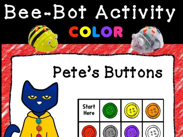 Bee Bot- Pete the Cat Color Matching