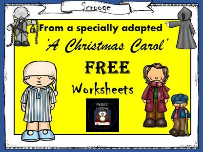 FREE 2 A Christmas Carol worksheets (Taken from my adapted bundle)