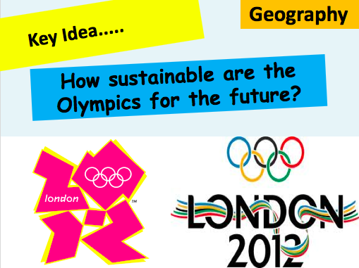 Are the Olympics Worth it? - Sustainability