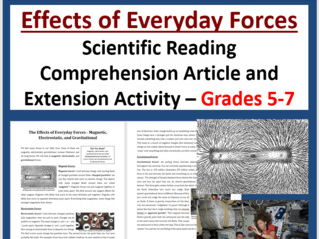 Effects of Everyday Forces - Science Reading Article - Grades 5-7