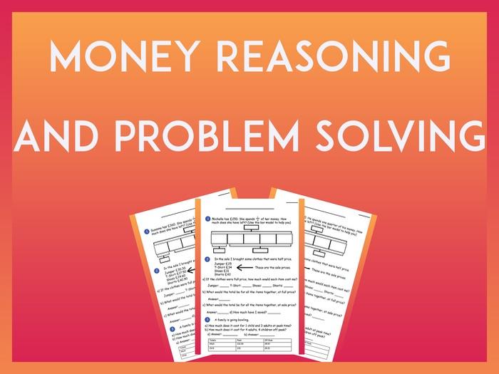 Money Reasoning and Problem Solving - Year 4 KS2