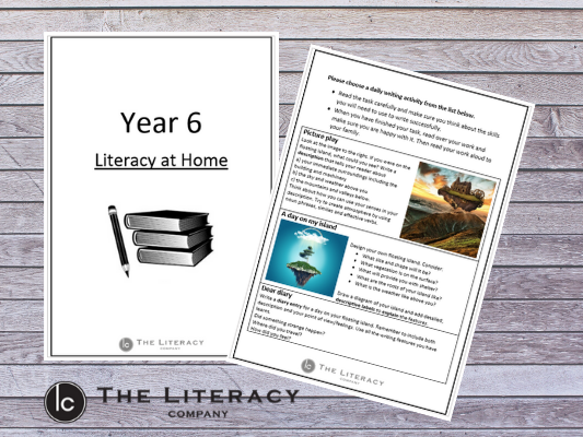 Literacy learning from home - Year 6