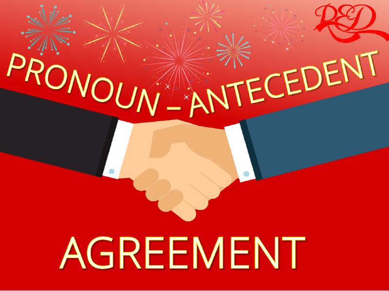 Pronoun Antecedent Agreement Worksheets