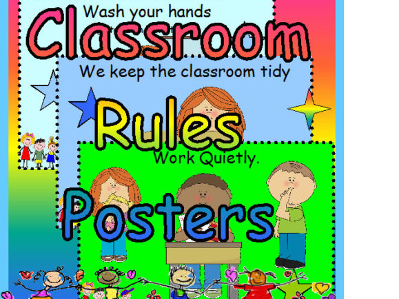 CLASS CLASSROOM RULES EYFS KS1 DISPLAY