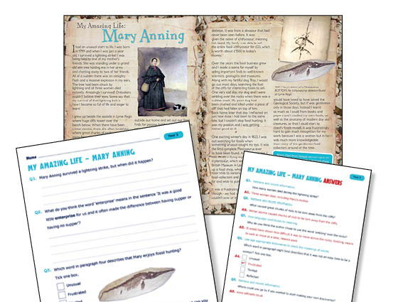 Year 3  Reading comprehension Mary Anning