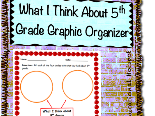 What I Think About 5th Grade Graphic Organizer