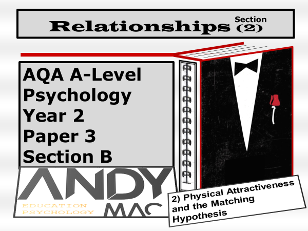 AQA A-Level Psychology: Year 2   Relationship Module, Part #2: Physical Attractiveness