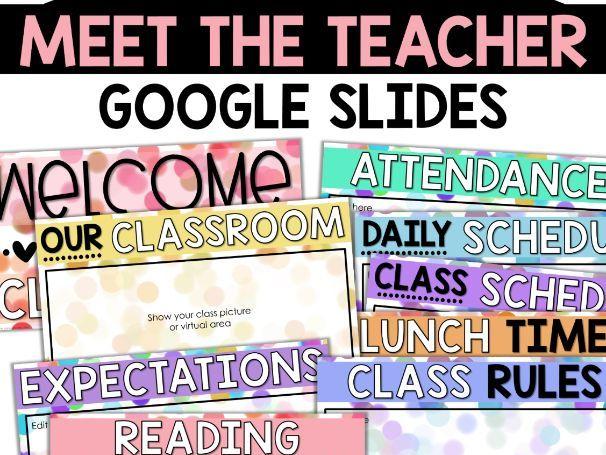 Virtual Meet the Teacher Open House Back to School