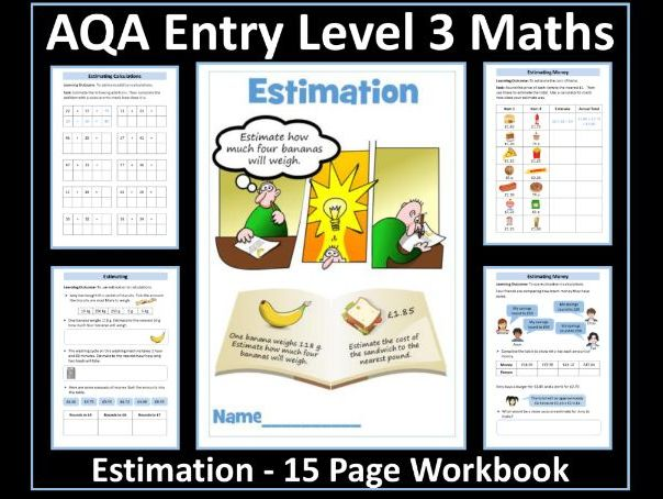 Estimation / Estimating AQA Entry Level 3 Maths