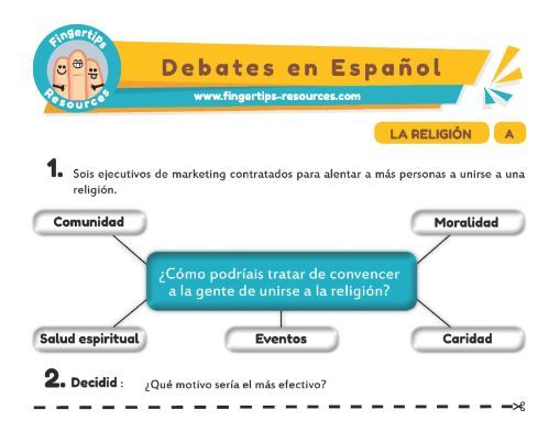 Religión - Debates in Spanish
