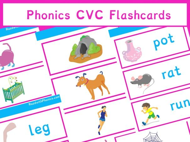 Phonics CVC Flashcards Sample | Phonics Resources| EYFS | Year 1 | 9 Pages