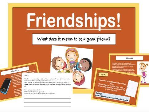 PSHE: Friendships Lesson and Worksheets (KS2)