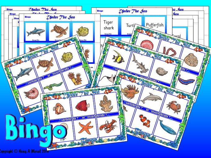 Under The Sea  - Bingo
