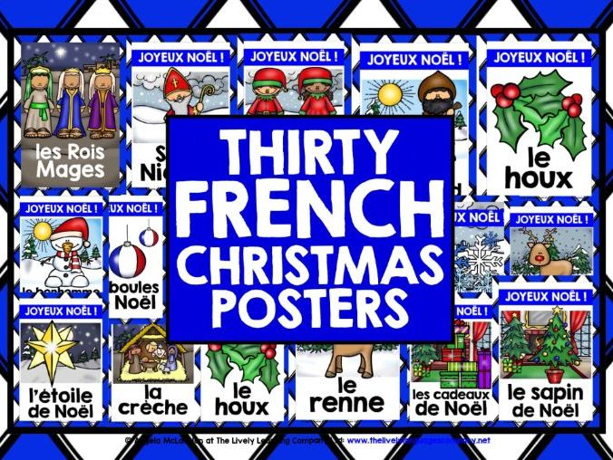 CHRISTMAS: PRIMARY FRENCH CHRISTMAS POSTERS