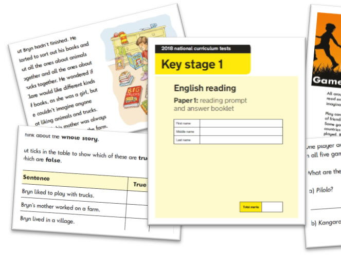 KS1 Reading Question Level Analysis Tool - 2018