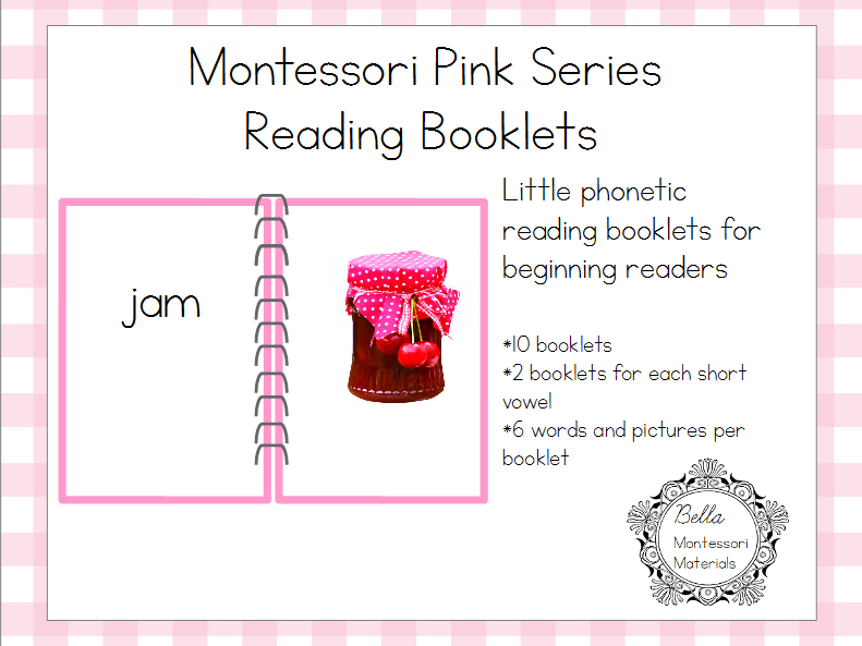 Montessori Pink Reading Booklets