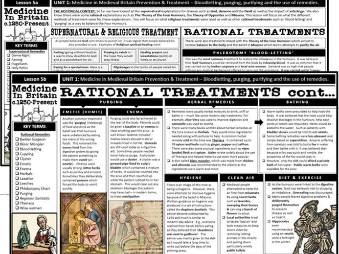 GCSE History Edexcel - Medicine: Religious & Rational Treatments and Prevention (Lesson 5)