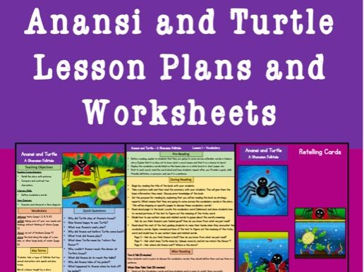 Anansi and Turtle Lesson Plans and Worksheet