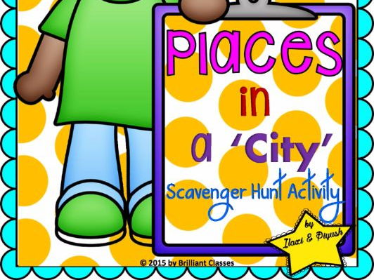 Place in a City Scavenger Hunt Activity
