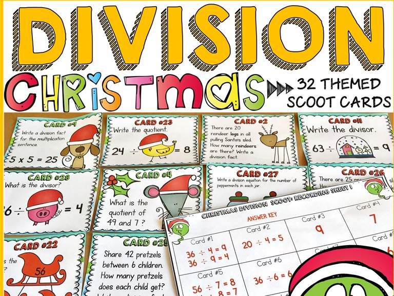 CHRISTMAS ACTIVITY: CHRISTMAS DIVISION SCOOT