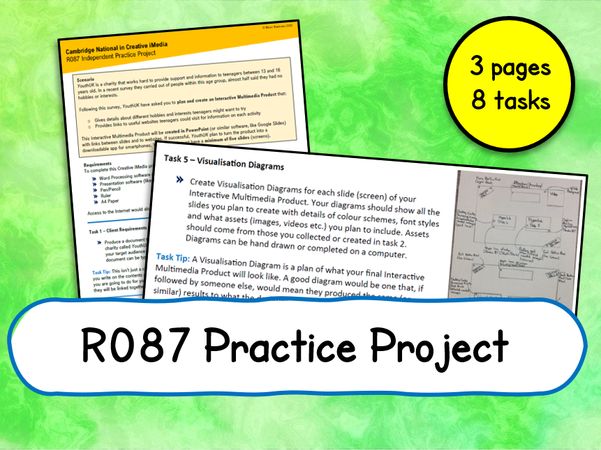 Creative iMedia R087 Practice Project (8 Tasks)